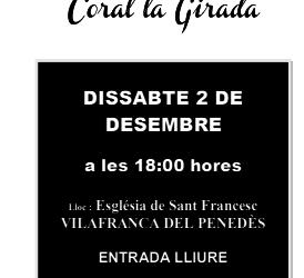 Concert coral de tardor a Vilafranca del Penedès